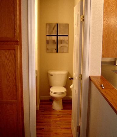 1/2 Bathroom on first floor