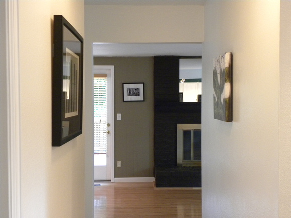 Hallway to Kitchen and Family Room