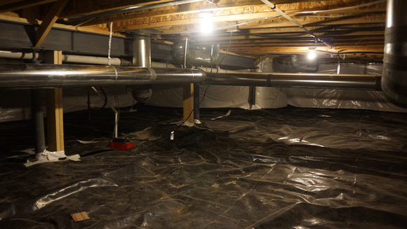 crawl space - lots of storage room